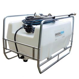 400L Skid Mounted Watering Unit - 12V 19L/min with 10m Hose and Garden Nozzle