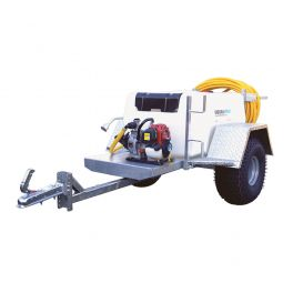 """500L Site Tow Trailer Mounted Water Bowser - 1"""" Pump - 120L/m - Single Axle"""