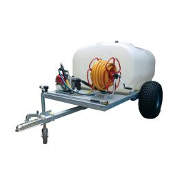 "700L Site Tow Trailer Mounted Water Bowser - 1"" Pump - 120L/m - Single Axle - Blue Tank"