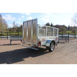 Kirby Trailers 750kg Caged & Ramped Heavy Duty Galvanised Box Utility Trailer 7x4""