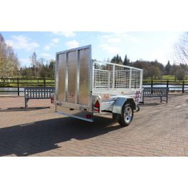 Kirby Trailers 750kg Caged & Ramped Heavy Duty Galvanised Box Utility Trailer 7x5""
