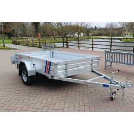Kirby Trailers 750kg Multi Purpose Heavy Duty Galvanised Box Utility Trailer 7x4""