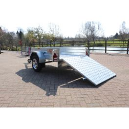 Kirby Trailers 750kg Ramped Heavy Duty Galvanised Box Utility Trailer 7x4""