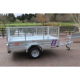 Kirby Trailers 750kg Caged Heavy Duty Galvanised Box Utility Trailer 7x4""